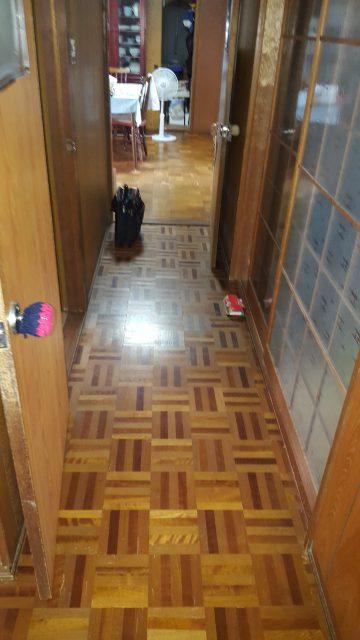 廊下床重ね張り工事