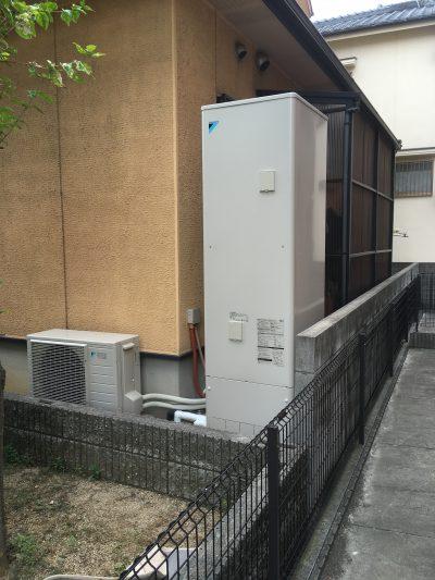 姫路市 電気温水器からエコキュートへの入替工事