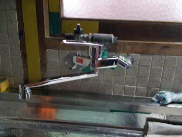 姫路市 お湯のでない台所をお湯が出るように