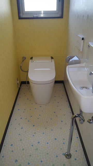 兵庫県相生市 全自動おそうじトイレへの取替え