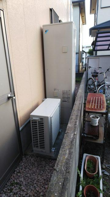 姫路市  急遽壊れたエコキュート取替工事