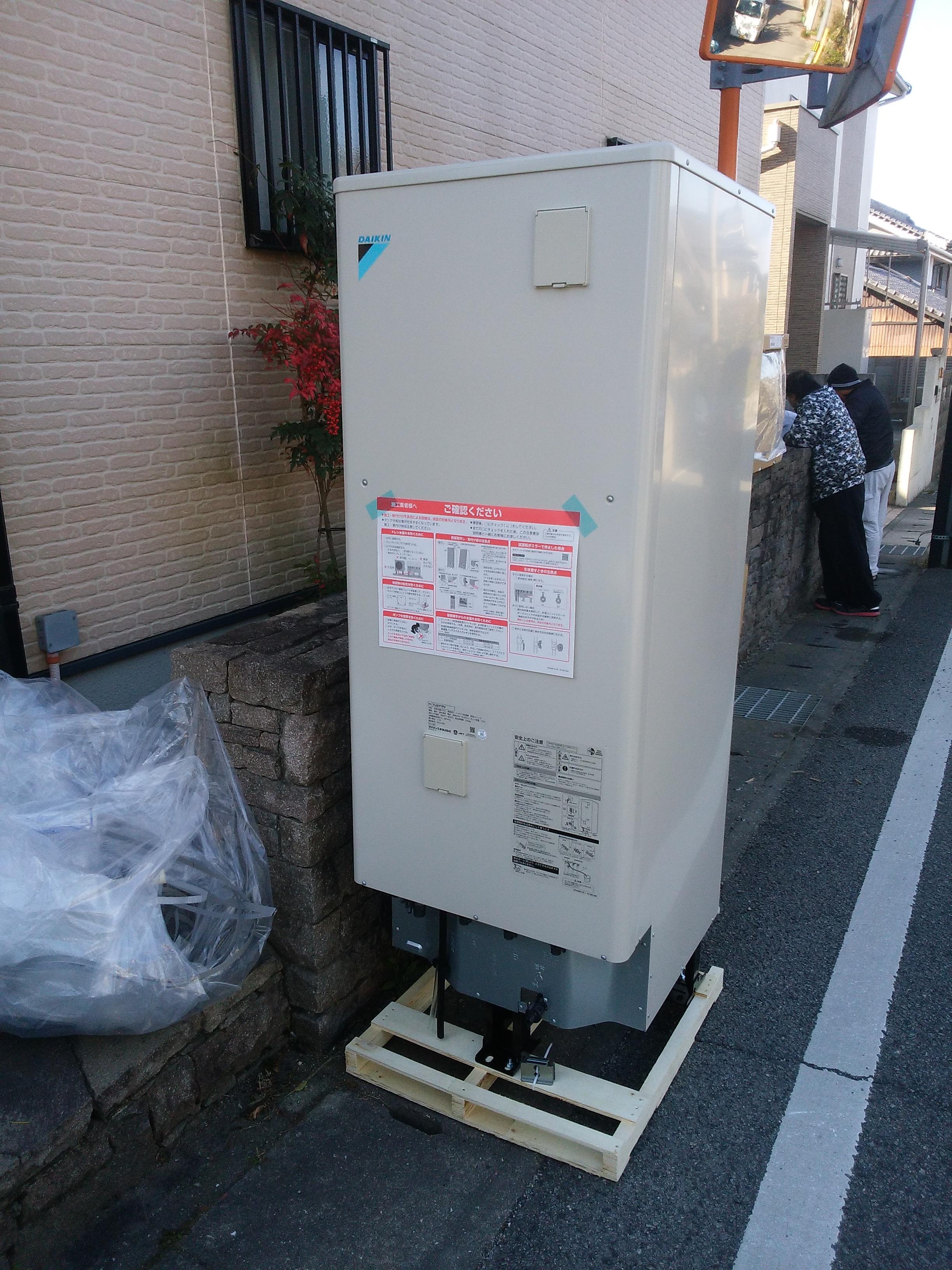 姫路市 電気温水器をエコキュートにしました