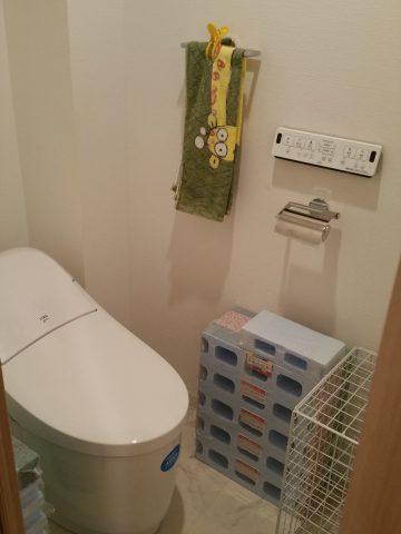 姫路市 トイレタンクから水漏れしてマンショントイレ取替工事