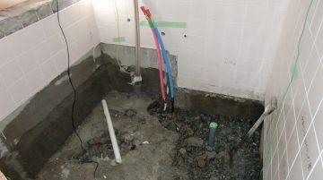 浴室床解体