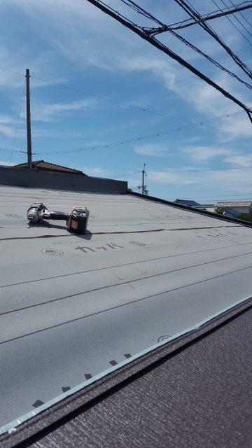 ガレージ屋根改修工事