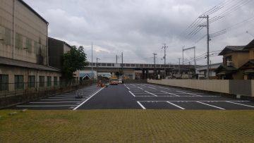 大型駐車場舗装