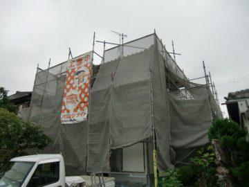 赤穂市 外壁塗装と柱の取替え