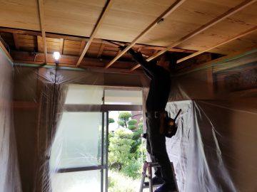 高砂市 和室天井張替工事
