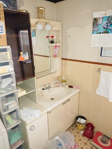 洗面台、クロス、CF