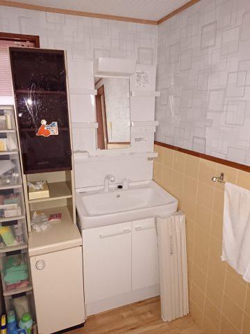 姫路市 古くなった洗面所の改修工事