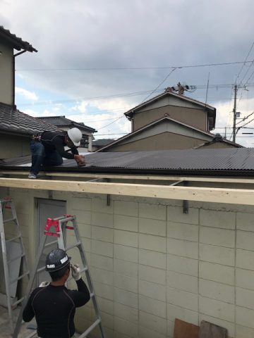 姫路市 倉庫の屋根の修理