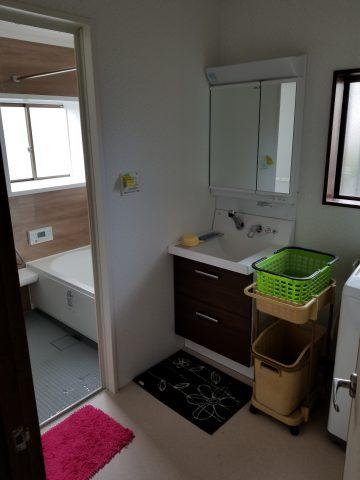 浴室脱衣場改修