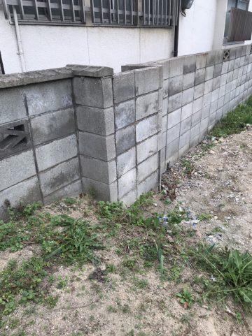 姫路市 塀部分解体工事
