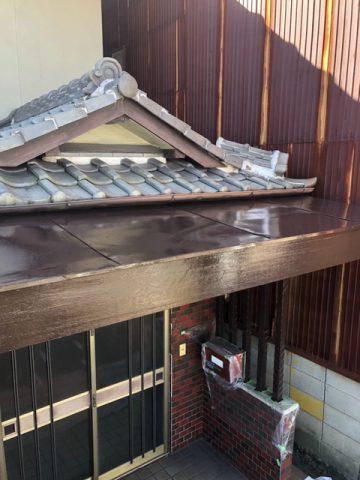 姫路市 庇の塗装