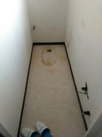 トイレ便器撤去後