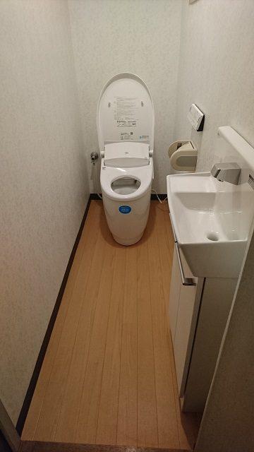 トイレ取付後