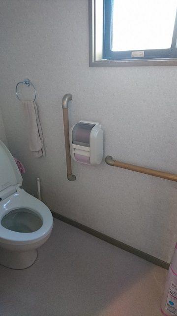 1階トイレ取付後①