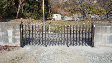 赤穂市 伸縮門扉が新らしくなりました!