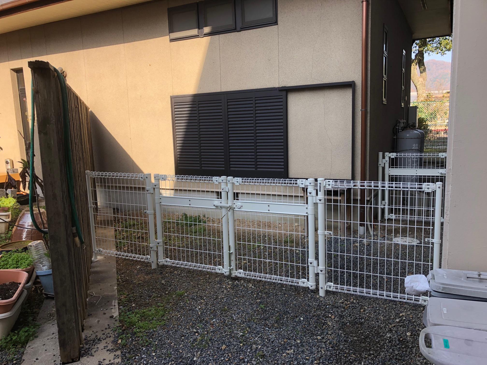 姫路市 フェンスと門扉新設
