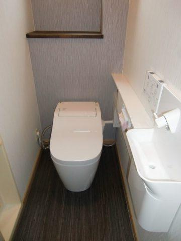 上郡町 トイレと手洗器の取付工事