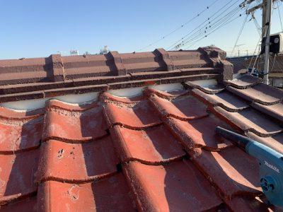 加古川市 屋根漆喰工事