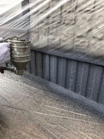 姫路市 家の基礎部分をキレイに塗装