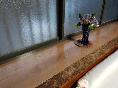 姫路市 フロア材が水でボロボロに