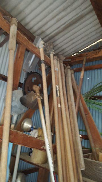 小屋解体工事