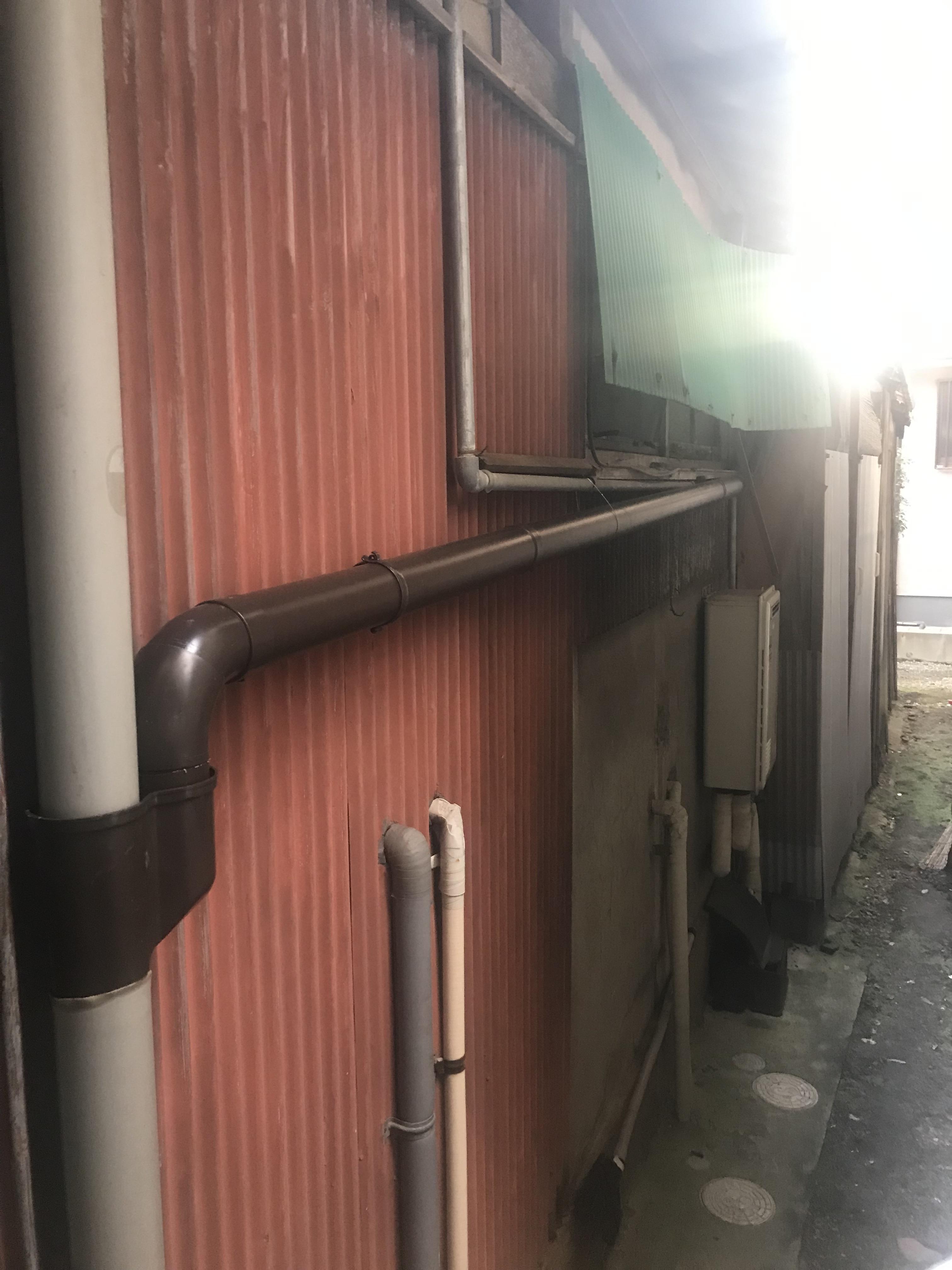 姫路市 雨水が隣の家に流れる