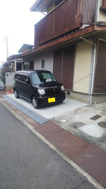 姫路市 花壇から駐車場工事