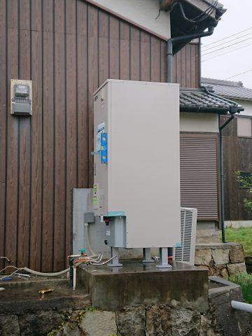 太子町 電気温水器からエコキュートへ取替