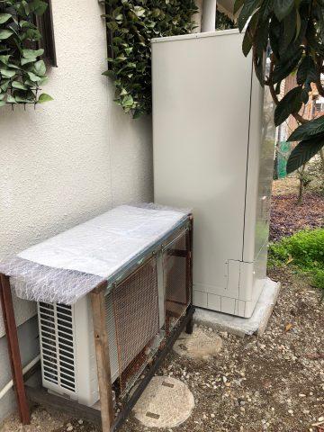姫路市 オール電化工事(ガス給湯器からエコキュート)
