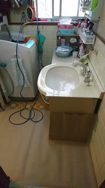 洗面台取替前