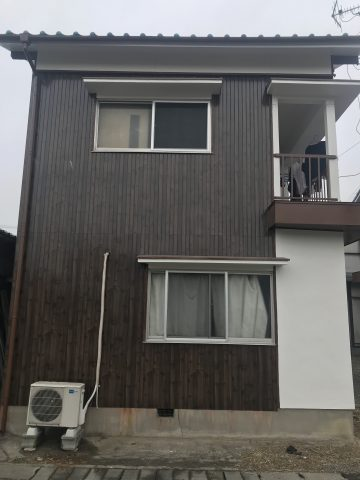 姫路市 トタンとモルタルの壁を塗装