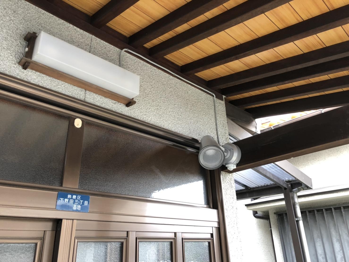 姫路市 玄関外照明取付工事