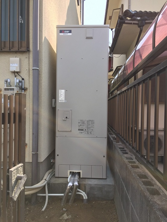 赤穂市 エコキュート設置工事
