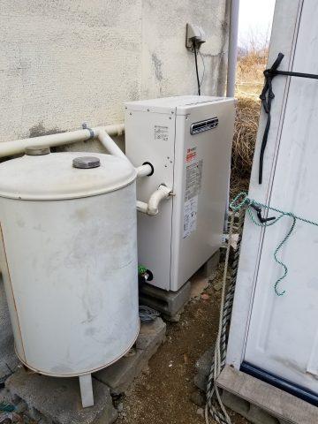 姫路市 石油ボイラーから水漏れ