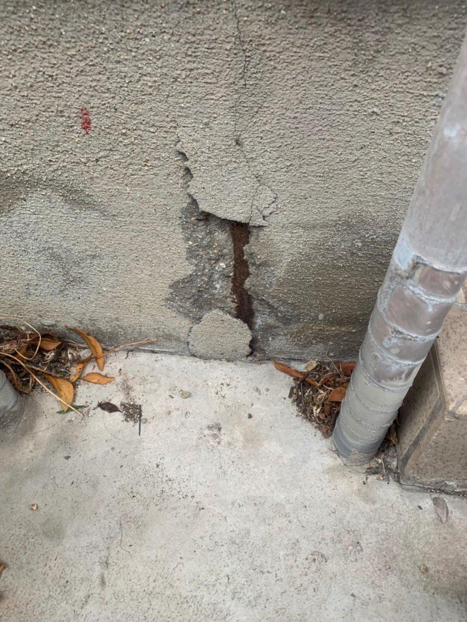 姫路市 基礎のヒビ割れ補修