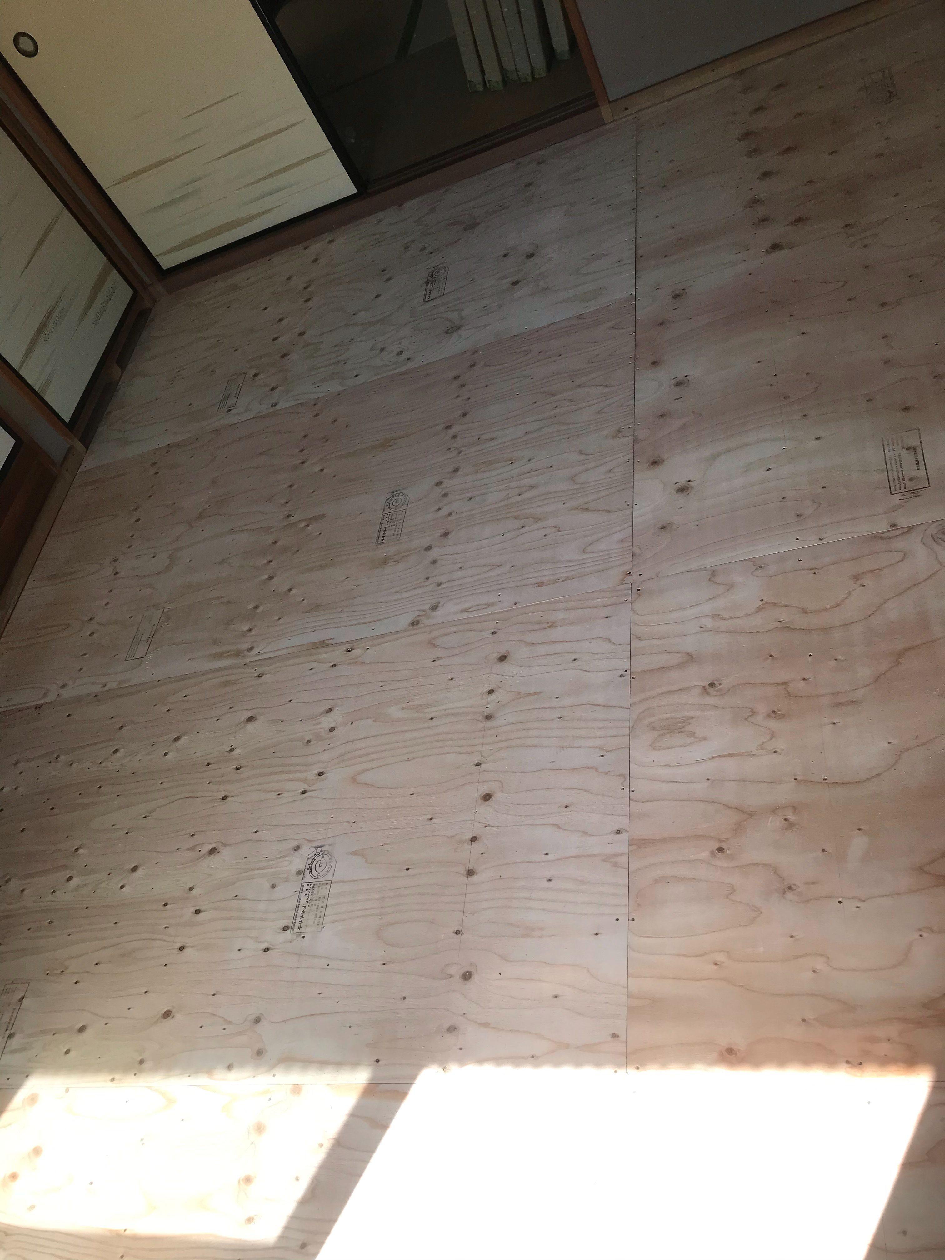 姫路市 和室の床下地やり替え工事