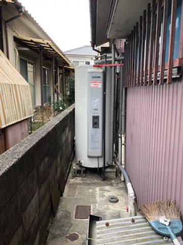 電気温水器からエコキュートへ交換 姫路 安井 リフォーム