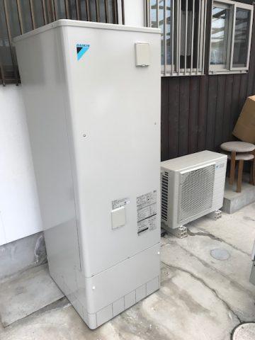 赤穂市 電気温水器からエコキュートへ