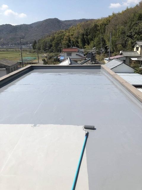 備前市 屋根とベランダの防水工事