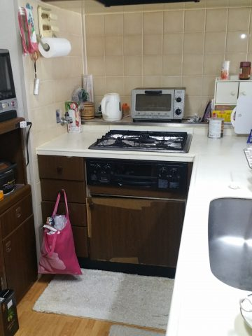 キッチンをL型からI型 マンション リフォーム