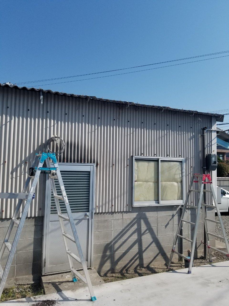 姫路市 丸樋から角樋に取替え工事