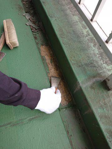 姫路市 ビルの排水路の防水処理工事