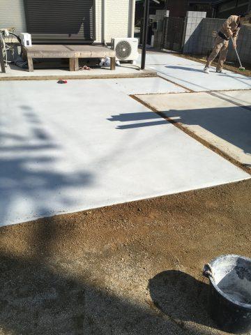 加古川市 駐車場の土間打ち工事