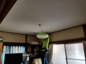 加古川市 和室の天井をクロス貼りに