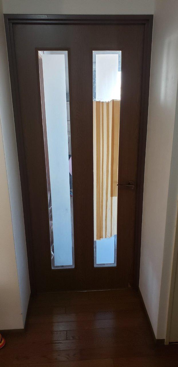姫路市 建具のガラスからアクリル板に入替え