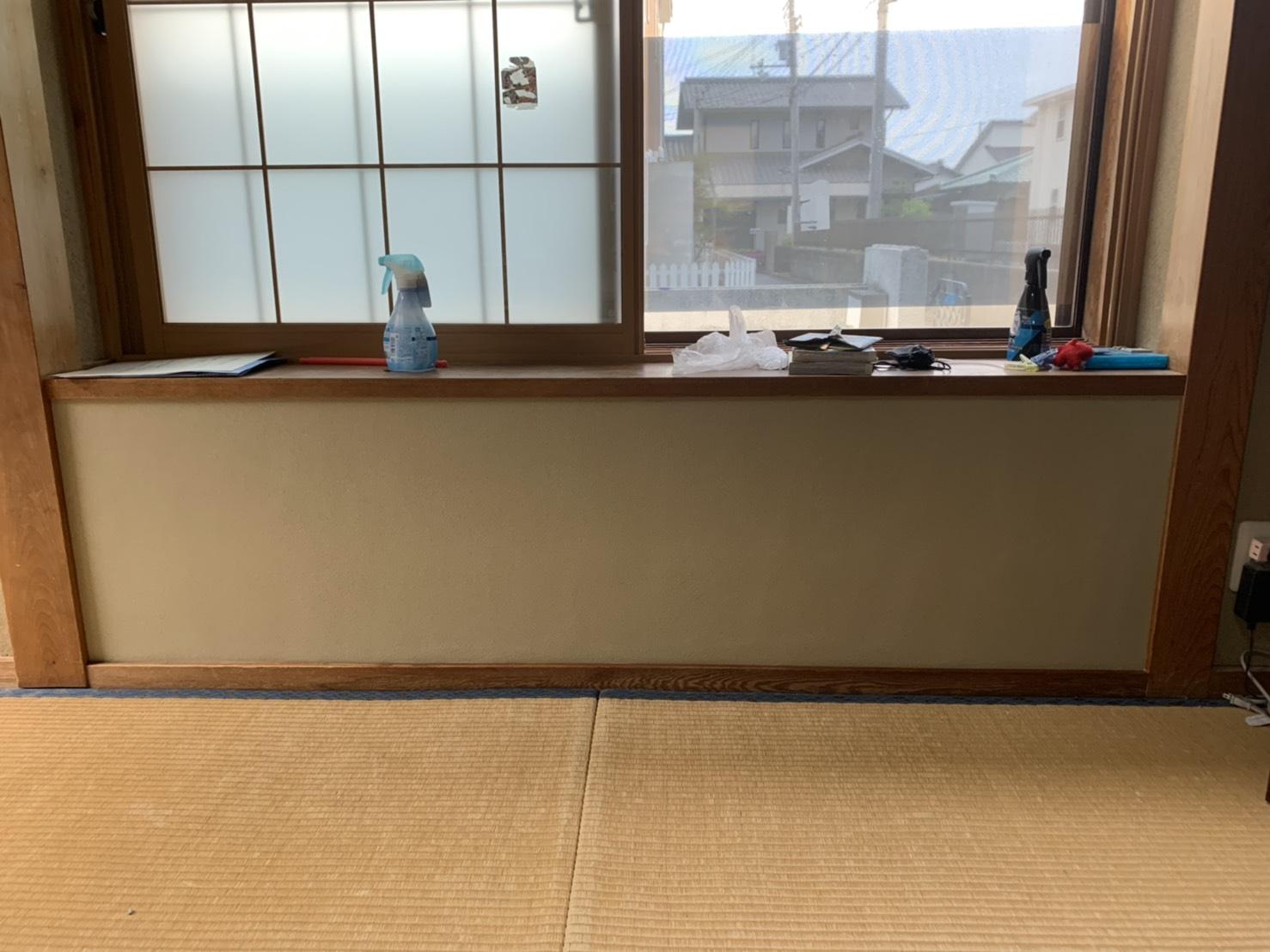 姫路市 お孫さんが穴開けてしまった左官壁の復旧工事