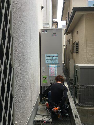 姫路市 電気温水器からエコキュート交換工事